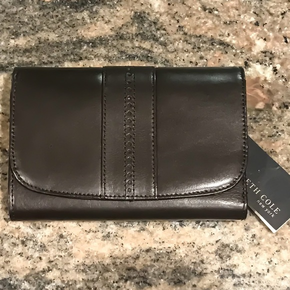 Kenneth Cole Handbags - Kenneth Cole NY Leather Dark Brown Wallet